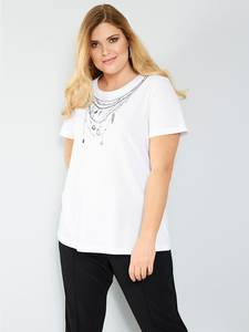 Shirt weiß/schwarz Sara Lindholm