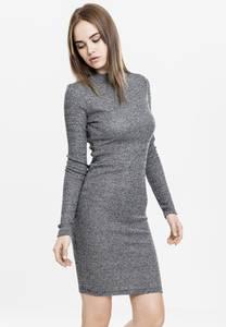 Urban Classics Kleid dunkelgrau / weiß