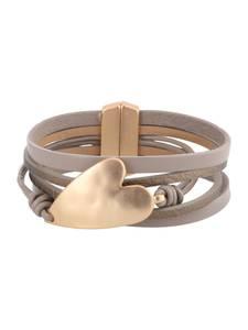 Sweet Deluxe Armband Zea  goud / taupe