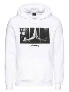 Mister Tee Sweatshirt ''Pray Hoody'' grau / weiß