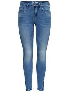 ONLY Damen Skinny Fit Jeans ONLKendell Ankle Zip 2630Medium Blue Denim