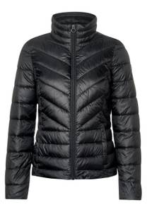CECIL Damen Sportive Stepp-Jacke in Schwarz