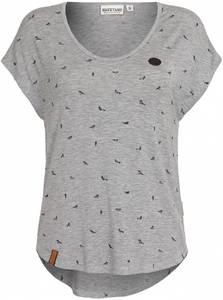naketano Shirt ''Immer auf brav'' grau
