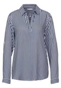 Street One Damen Bluse im Streifen Muster in Blau,Weiß