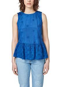 edc by ESPRIT Damen 058CC1F008 Bluse, Blau (Blue 430), Medium
