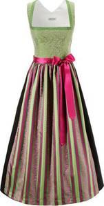 HANNAH Dirndl mit besticktem Oberteil hellgrün / pink / schwarz