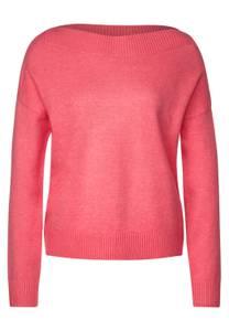 Street One Damen Softer U-Boot Pullover in Pink