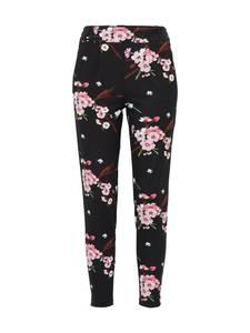 ONLY Bundfaltenhose POPTRASH rosa / schwarz