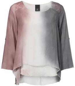 heine Batikbluse mit Pailletten rosa / grau