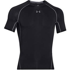Under Armour Herren UA HeatGear Short SleeveFunktionsshirt, Schwarz (Black/Steel (001)), Medium