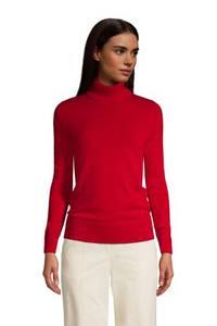Rollkragen-Pullover aus Kaschmir, Damen, Größe: XS Normal, Rot, by Lands'' End, Satt Rot