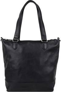 Cowboysbag Leder-Schultertasche Carson in Schwarz - (B)30 x (H)30 x (T)10 cm