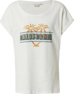 Cream T-Shirt UllaCR T-shirt BCI weiß / gelb / blau