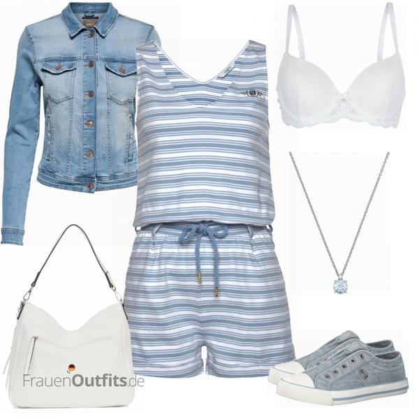 Blauer Sommerlook FrauenOutfits.de