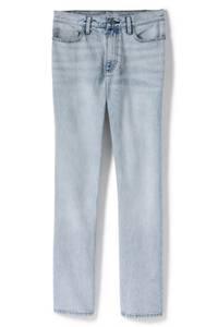 Straight Fit Jeans High Waist, Damen, Größe: 34 32 Normal, Blau, Denim, by Lands'' End, Blue Vista Indigo