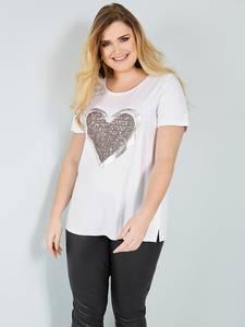 Shirt weiß/beige Sara Lindholm