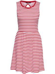 ONLY Kleid rot / weiß