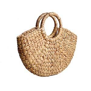 Seegras geflochtene Handtasche mit Ringhandgriff
