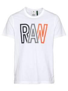 G-Star RAW T-Shirt weiß / orange / marine / grau