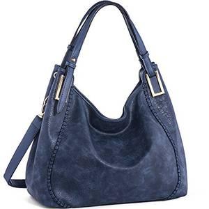 JOYSON Handtasche Damen Umhängetasche Schultertasche Crossbody PU Leder Hobo Tasche Damen Handtasche für Frauen (L39cm * W16cm * H29cm) Blau