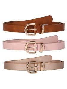 ABOUT YOU Ledergürtel ''Malina'' pink / rosa / braun