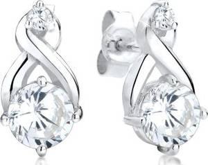 Elli Paar Ohrstecker Infinity Zirkonia Glamour Elegant 925 Silber