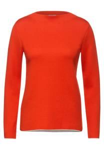 CECIL Damen Pulli mit Stehkragen in Orange