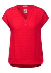 CECIL Damen T-Shirt im Materialmix in Rot