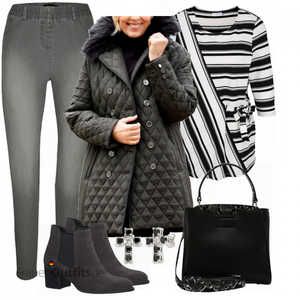 Cooler Winterlook für Plus Size FrauenOutfits.de