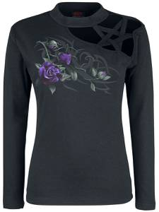 Spiral Tribal Rose Langarmshirt