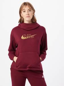 Nike Sportswear Sweatshirt weinrot / gold