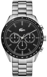 LACOSTE Uhr silber / schwarz