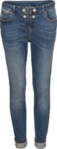 Jeans mit Stickerei am Saum in blau für Damen von bonprix