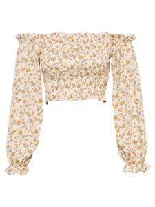 Missguided Bluse creme / gelb / pastellgrün