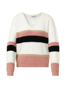 ABOUT YOU Pullover ''Leona Jumper'' creme / rosa / schwarz / gold
