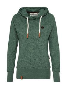 Naketano Sweatshirt Gartenmöbelgangster dunkelgrün / schwarz