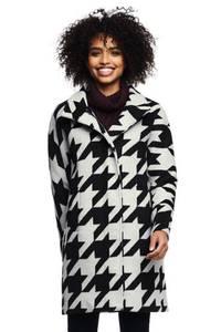 Mantel aus Wollmix Gemustert in großen Größen, Damen, Größe: 58 Plusgrößen, Sonstige, by Lands'' End, Hahnentritt Klassisch