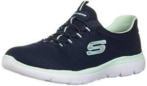Skechers Damen Summits Sneaker, Navy Aqua, 37.5 EU