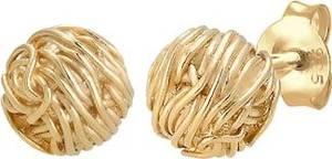 ELLI Ohrringe Organic Kreis Ball gold