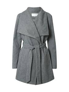 VILA Mantel dunkelgrau / weiß