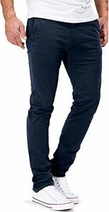 DSTROYED ® Chino Herren Slim fit Chinohose Stretch Designer Hose Neu 505 (32-32, 505 Dunkelblau)