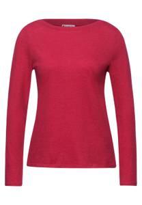Street One Damen Shirt mit U-Boot Ausschnitt in Rot