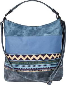 Denim Ethno-Shopper in blau für Damen von bonprix