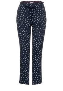 CECIL Damen Loose Fit Hose mit Print in Blau