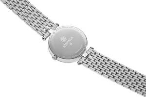 JOWISSA Quarzuhr ''Facet Strass'' Swiss Ladies Watch weiß / silber