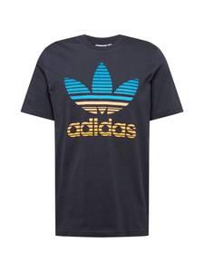ADIDAS ORIGINALS T-Shirt schwarz / gelb / aqua