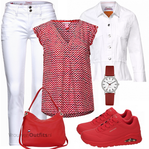Chique zomeroutfit VrouwenOutfits.nl