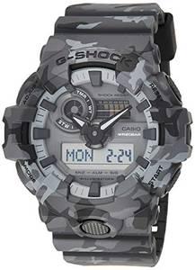 CASIO Herren Analog-Digital Quarz Uhr mit Harz Armband GA-700CM-8AER
