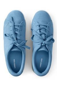 Sneaker, Damen, Größe: 36 Weit, Rot, Leder, by Lands'' End, Adobe Rose