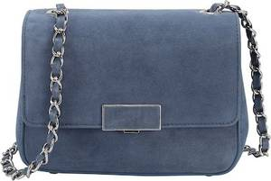 Ekonika Tasche mit modischem Ketten-Band blau